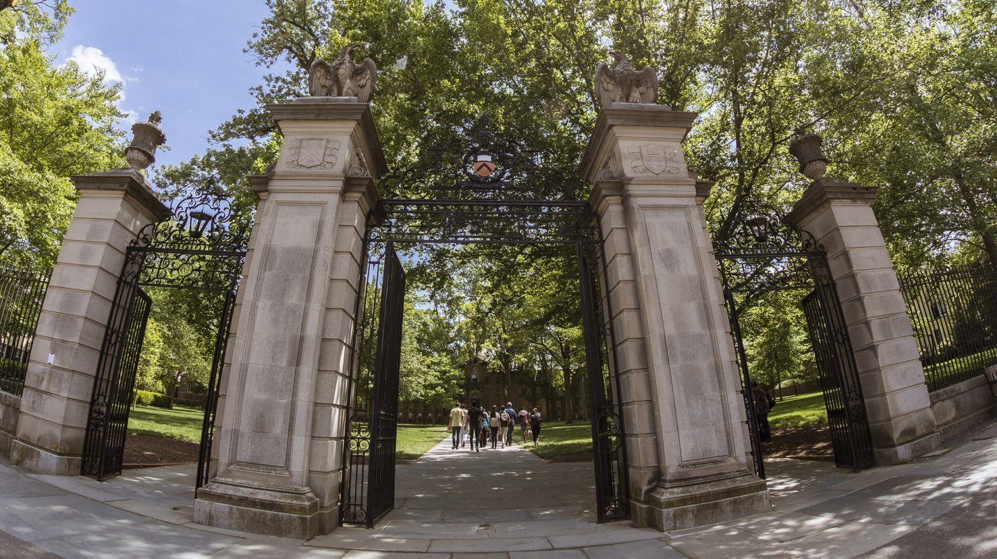Gates in front of Nassau Hall